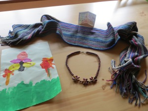 Gifts from Herman, Kenia, Eric, and Patrick in Cotacachi, Ecuador